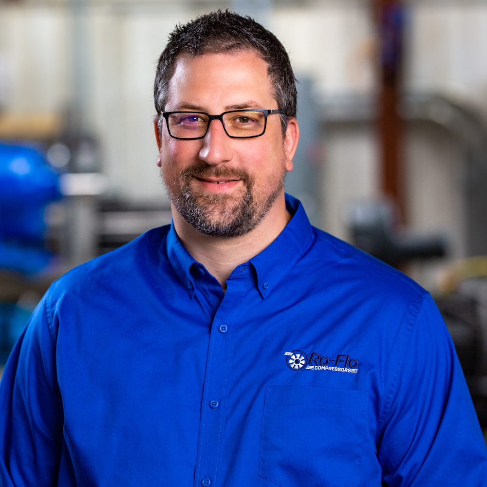 Travis Sixel, Director of Engineering at Ro-Flo Compressors