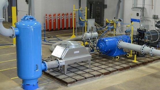 vacuum pump and compressor installed inside a factory